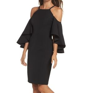 VINCE CAMUTO Laguna Cold Shoulder Sleeve Dress